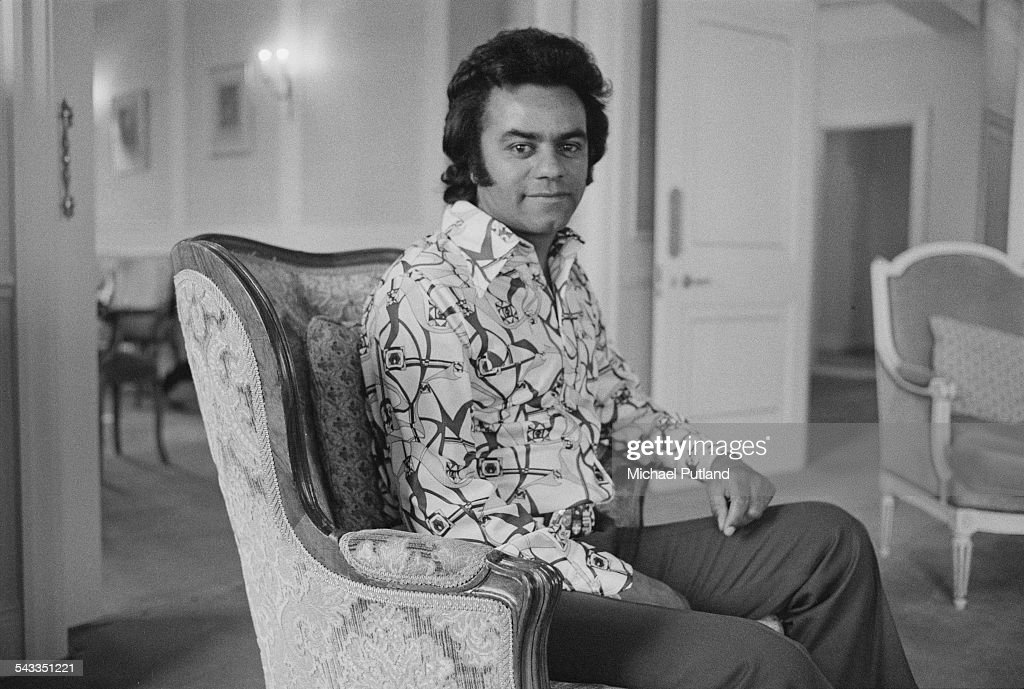 American singer Johnny Mathis, 27th February 1975.