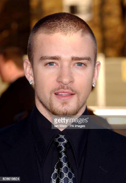 American singer Justin Timberlake arriving at Earls Court 2 London for The Brit Awards 2003 *040803*American singer Justin Timberlake who is the...