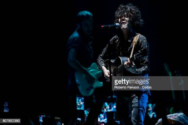 american singer LP performs in concert at Auditorium Parco della Musica on July 3 2017 in Rome Italy