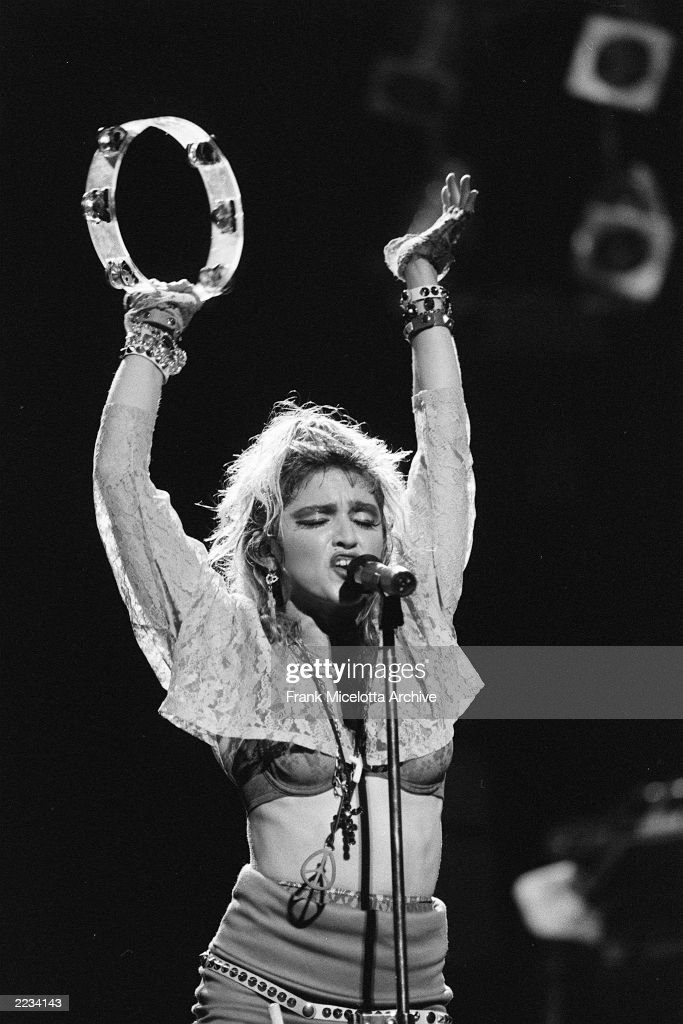 American singer Madonna performs on 'The Virgin Tour' at Radio City Music Hall in New York City June 6 1985 Photo by Frank Micelotta/ImageDirect