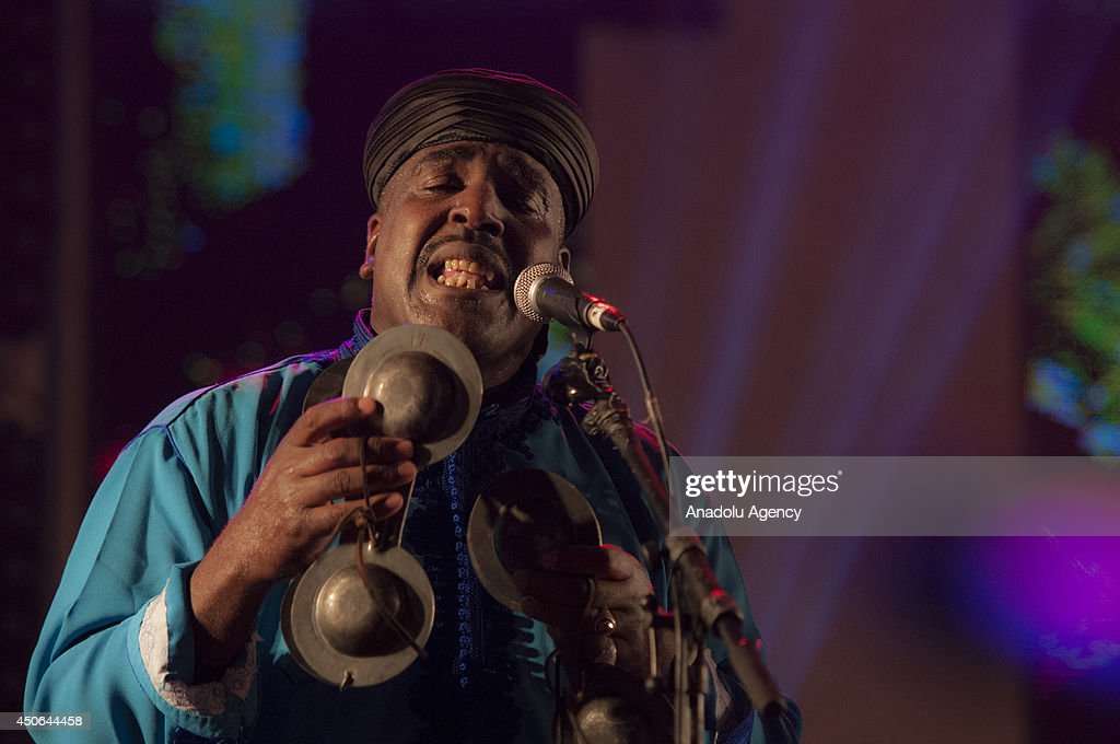 American singer Marcus Miller (Not seen) with his group perform during the 17th edition of the Gnaoua World Music Festival in Essaouira, Morocco on June 15, 2014. The 17th edition of the Gnaoua World Music Festival runs from June 12 to 15 attendance with many music groups.