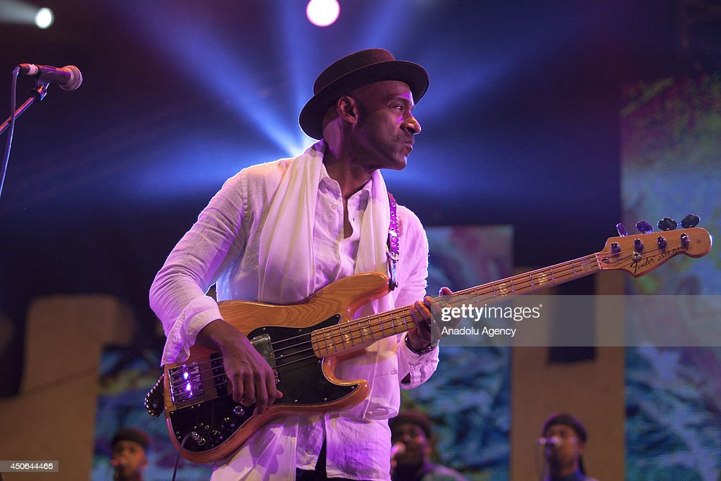 American singer Marcus Miller with his group perform during the 17th edition of the Gnaoua World Music Festival in Essaouira, Morocco on June 15, 2014. The 17th edition of the Gnaoua World Music Festival runs from June 12 to 15 attendance with many music groups.