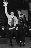 American singer Michael Jackson at Madame Tussaud's Wax Museum on Baker Street for the unveiling of his waxwork March 1985