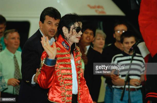 American singer Michael Jackson at the Don Valley Stadium Sheffield during the HIStory World Tour 9th July 1997