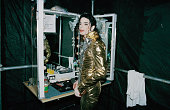 American singer Michael Jackson backstage in Bremen during the HIStory World Tour 1997