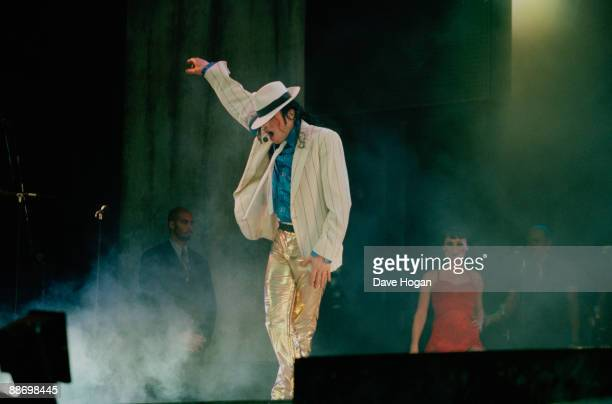American singer Michael Jackson in concert in Bremen during the HIStory World Tour 1997