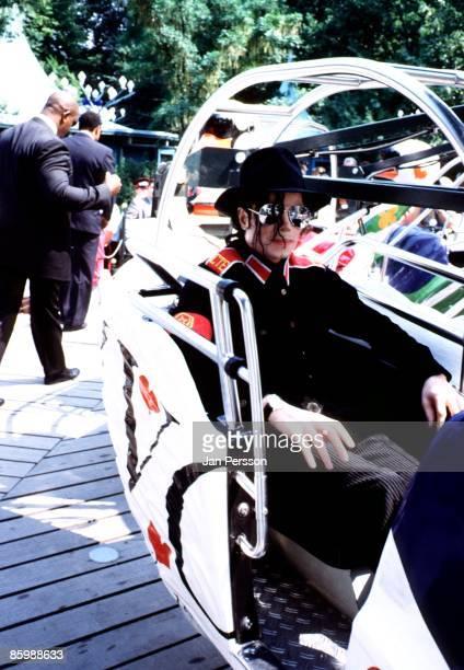 American singer Michael Jackson visits the funfair at theTivoli Gardens in Copenhagen Denmark on July 21 1992