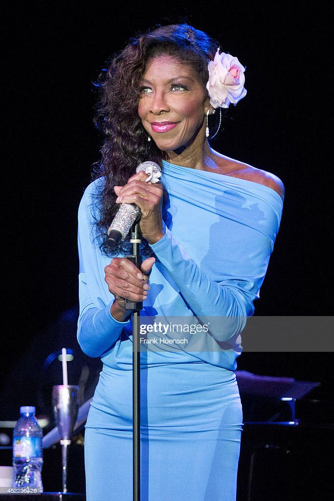 American singer Natalie Cole performs live during a concert at the Admiralspalast on July 16 2014 in Berlin Germany