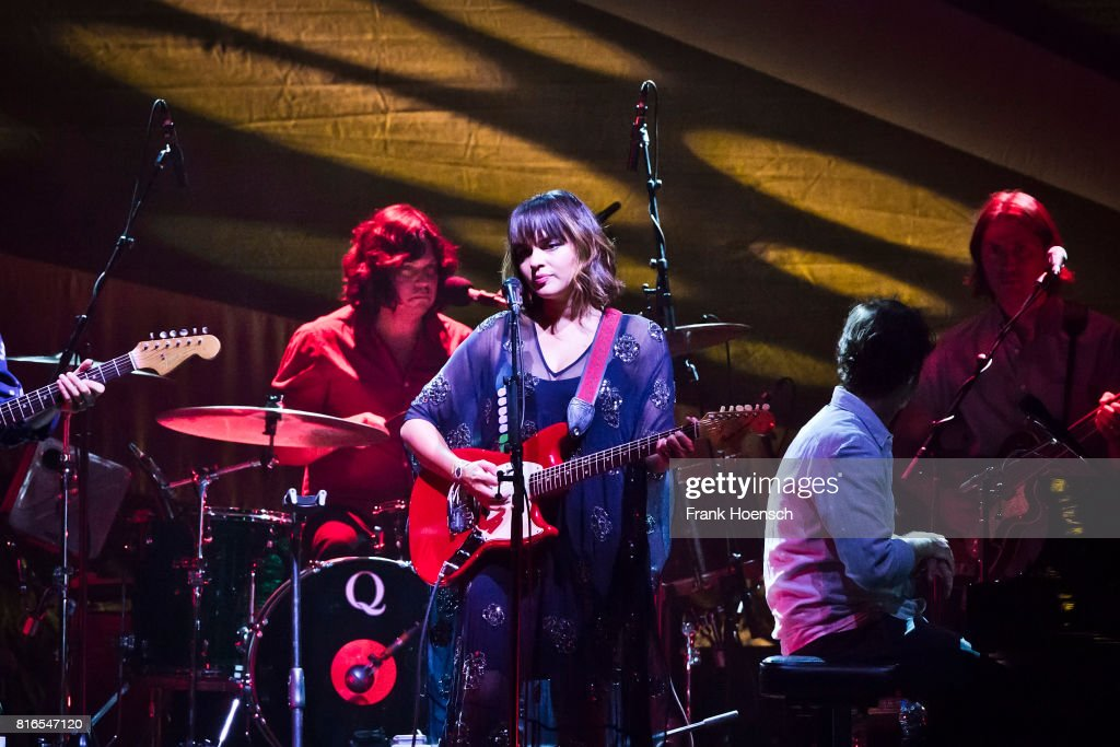 American singer Norah Jones performs live on stage during a concert at the Tempodrom on July 17, 2017 in Berlin, Germany.