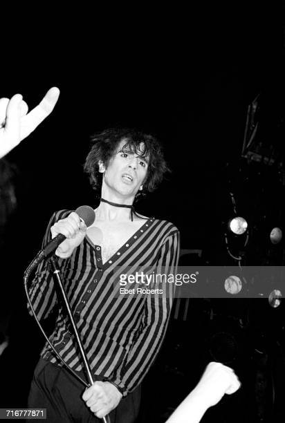 American singer Peter Wolf performing with The J Geils Band at the Palladium in New York City 25th April 1980