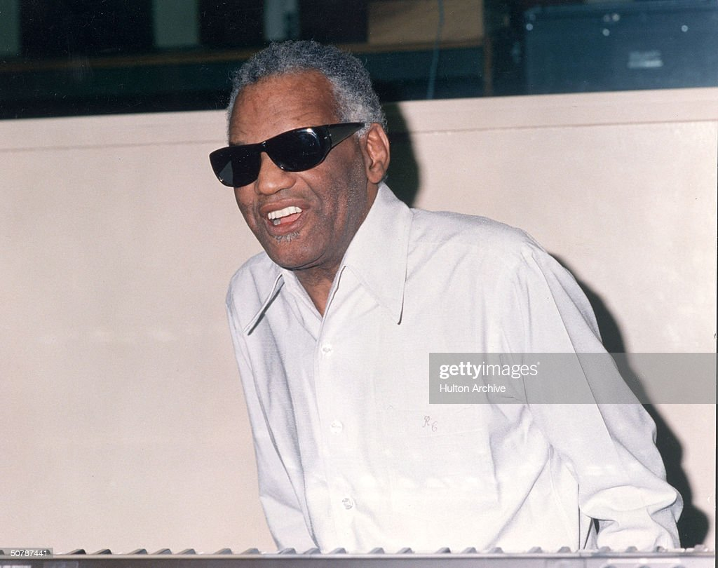 American singer pianist and songwriter Ray Charles arrives at an unidentified event 1990s