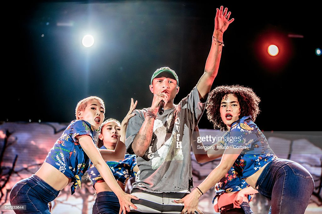 Pharrell Williams Performs In Milan