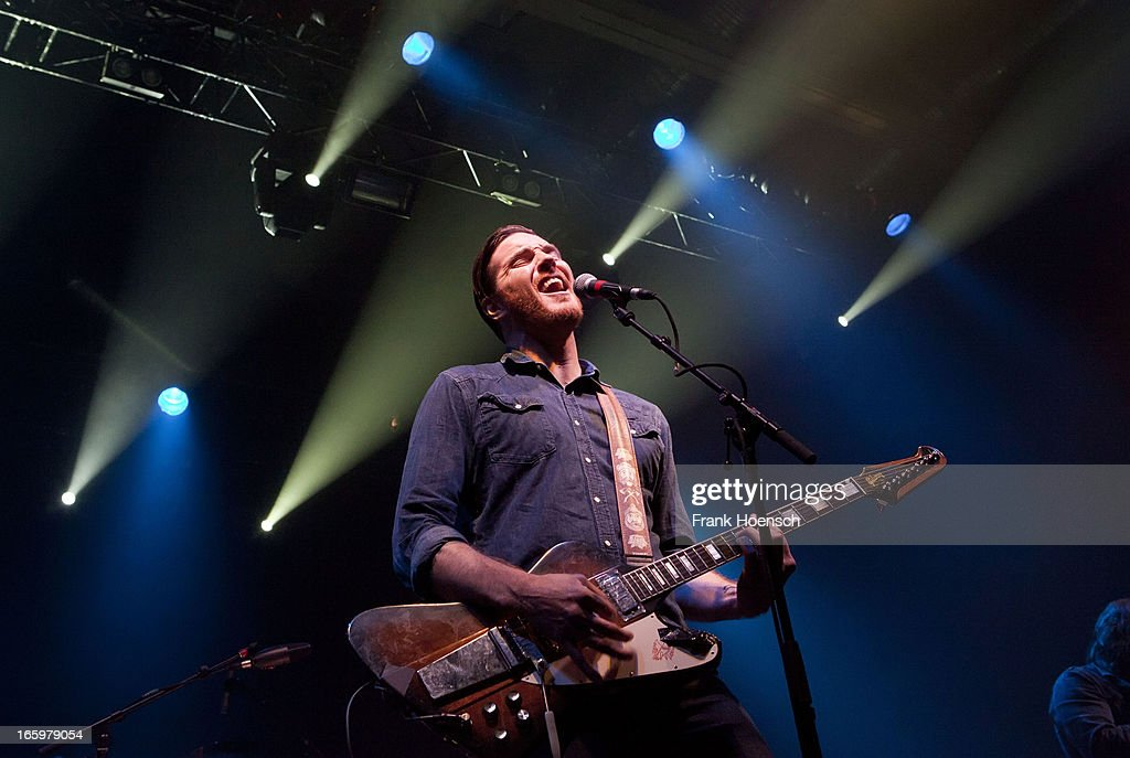 American singer Shaun Cornell of Transfer performs live in support of Black Rebel Motorcycle Club during a concert at the Columbiahalle on April 7, 2013 in Berlin, Germany.