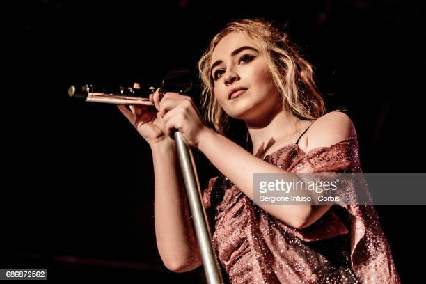 American singer songwriter and actress Sabrina Carpenter born Sabrina Ann Lynn Carpenter performs on stage at Magazzini Generali on May 22 2017 in...