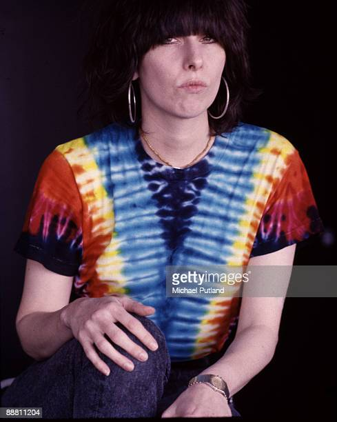American singer songwriter and guitarist Chrissie Hynde of the Pretenders London 1986