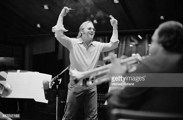 American singer songwriter and guitarist Stephen Stills of folk rock group Crosby Stills Nash in a recording studio May 1979