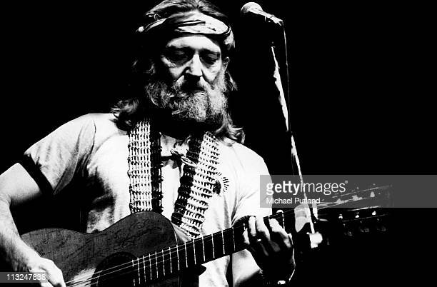 American singer songwriter and musician Willie Nelson performing on stage USA April 1978