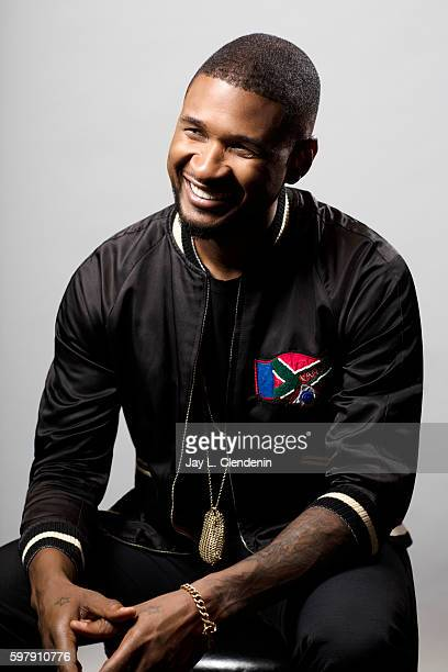 American singer songwriter dancer and actor Usher is photographed for Los Angeles Times on August 15 2016 in Los Angeles California PUBLISHED IMAGE...