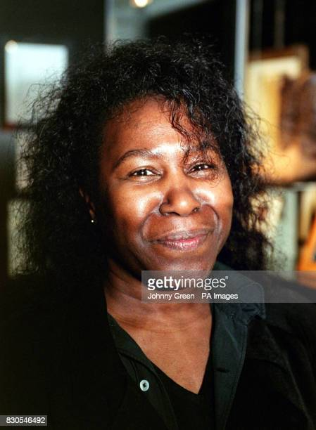 American singer songwriter Joan Armatrading arrives at Sotheby's in central London for the celebrity preview of film memorabilia auction in aid of...