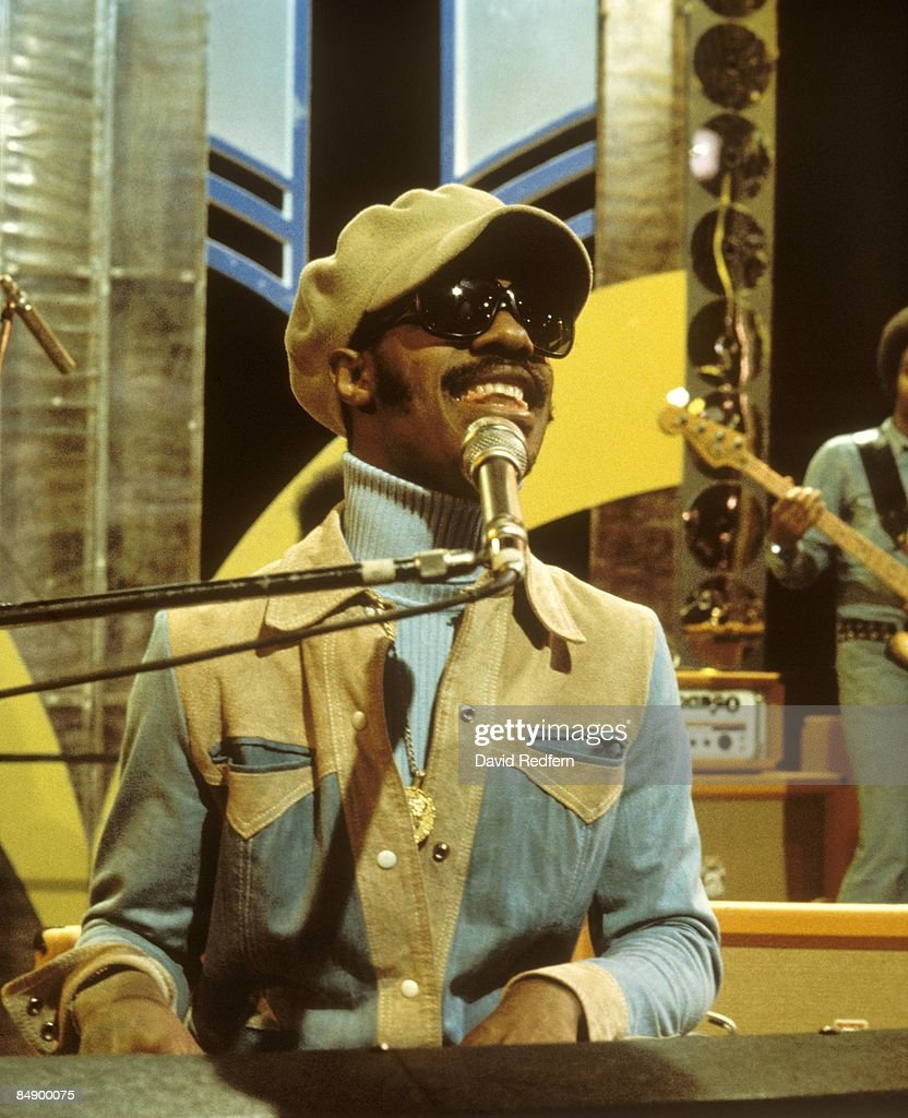 Photo of Stevie WONDER; performing 'Living For The City' on Top Of The Pops,