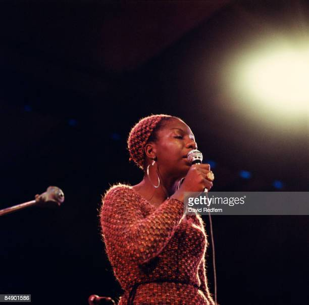 FESTIVAL Photo of Nina SIMONE Nina Simone performing on stage