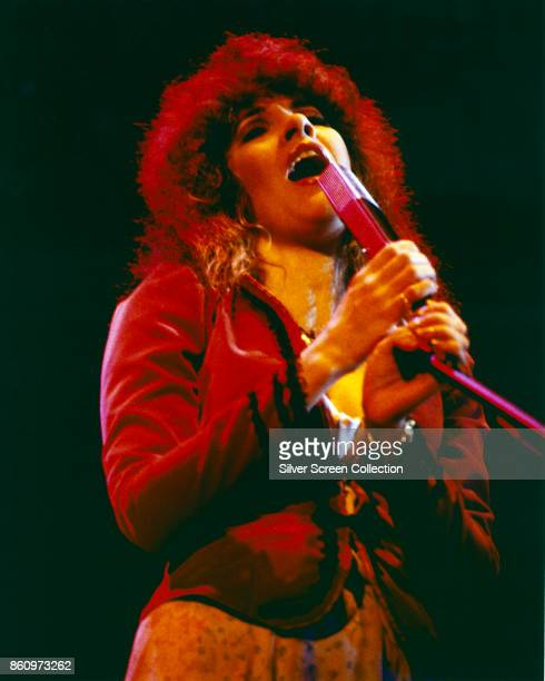 American singer Stevie Nicks of the group Fleetwood Mac performs onstage at the Cow Palace San Francisco California December 12 1979