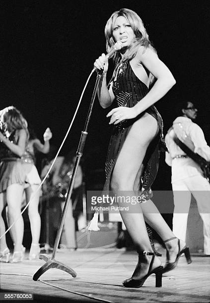 American singer Tina Turner performing on stage 28th October 1975