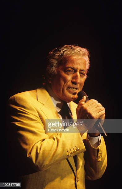 American singer Tony Bennett performs on stage at the Jazz A Vienne Festival held in Vienne France in July 1996