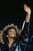 American singer Whitney Houston in concert circa 1988