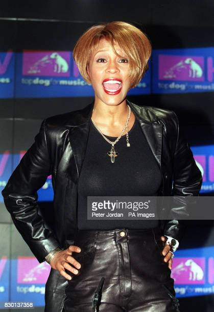 American singer Whitney Houston makes a rare appearance for her fans at the HMV store in Oxford Circus London * Whitney Houston pulled out of Michael...