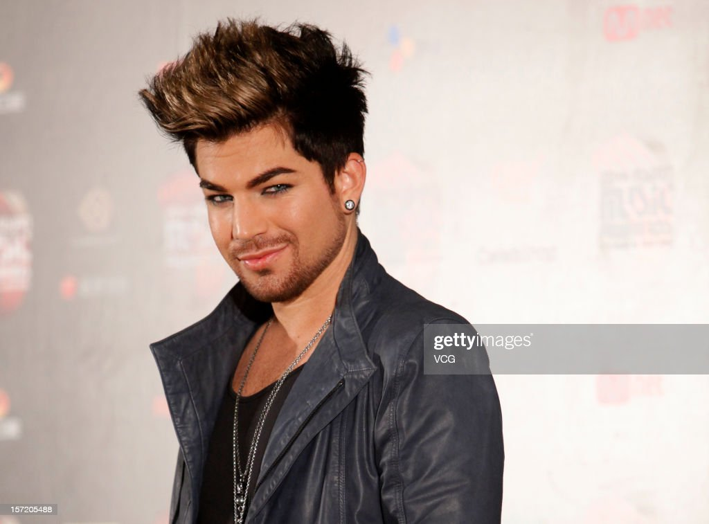 American singer-songwriter <a gi-track='captionPersonalityLinkClicked' href=/galleries/search?phrase=Adam+Lambert&family=editorial&specificpeople=5706674 ng-click='$event.stopPropagation()'>Adam Lambert</a> attends a press conference of the 2012 Mnet Asian Music Awards on November 30, 2012 in Hong Kong, Hong Kong.