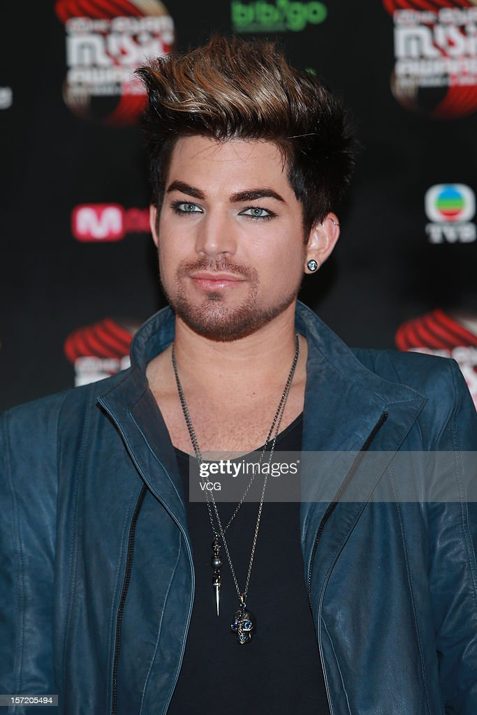 American singer-songwriter Adam Lambert attends a press conference of the 2012 Mnet Asian Music Awards on November 30, 2012 in Hong Kong, Hong Kong.