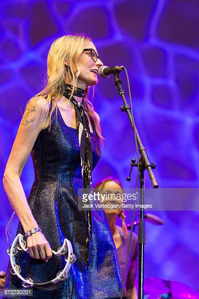 American singersongwriter Aimee Mann performs with the Watkins Family Hour Band during a performance in celebration of the 50th anniversary of Bob...