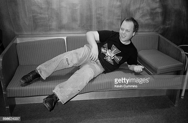 American singersongwriter and guitarist Black Francis of American rock group The Pixies playing air guitar Utrecht Netherlands September 1990 He is...
