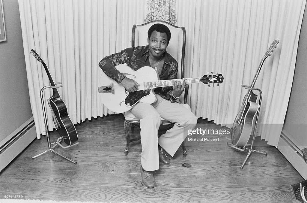 American singer-songwriter and guitarist George Benson at his home, USA, 5th September 1977.