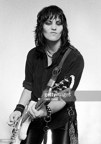 American singersongwriter and guitarist Joan Jett New York 1981