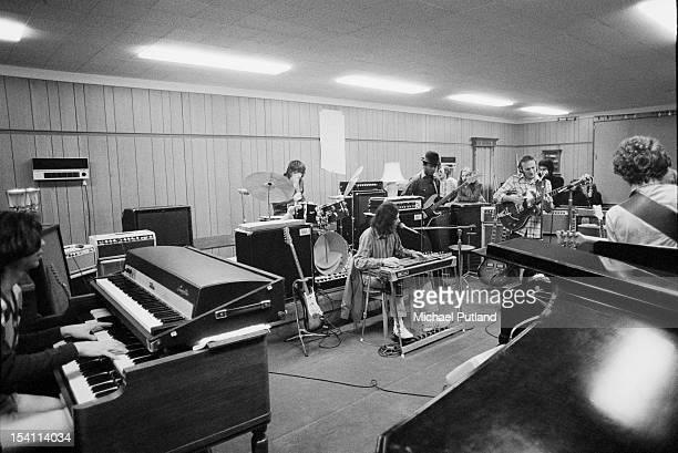 American singersongwriter and guitarist Stephen Stills rehearsing with his band Manassas at his home in Elstead Surrey 4th March 1972