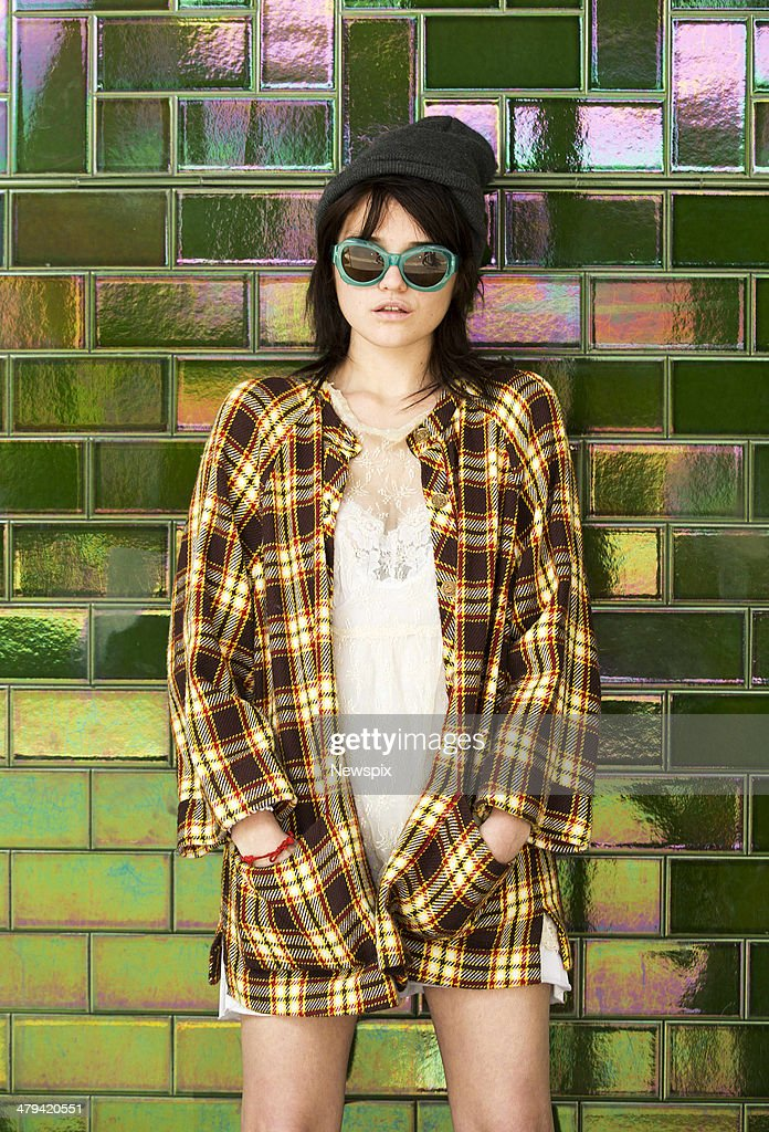 American singer-songwriter and model <a gi-track='captionPersonalityLinkClicked' href=/galleries/search?phrase=Sky+Ferreira&family=editorial&specificpeople=6740166 ng-click='$event.stopPropagation()'>Sky Ferreira</a> poses during a photo shoot on March 17, 2014 in Sydney, Australia.