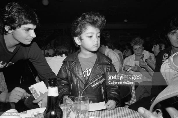 American singersongwriter and music producer Bruno Mars shown here as a four year old Elvis impersonator in August 1990 in Memphis TN