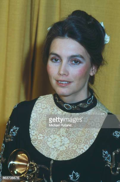 American singersongwriter and musician Emmylou Harris attends the 22nd Annual Grammy Awards on February 27 1980 at the Shrine Auditorium in Los...