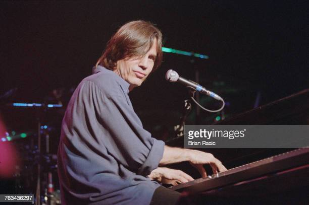 American singersongwriter and musician Jackson Browne performs live at the piano on stage at the Royal Albert Hall in London in June 1994