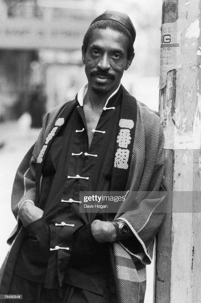 American singer-songwriter and producer Ike Turner in an oriental outfit, 1985.