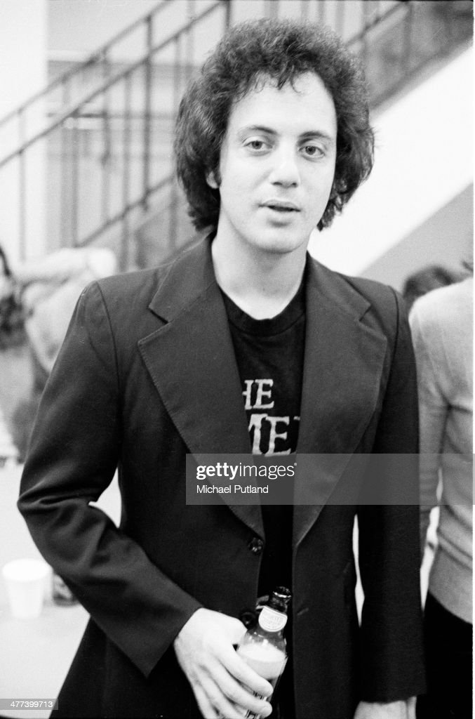 American singersongwriter Billy Joel backstage before a concert in New York 7th December 1977
