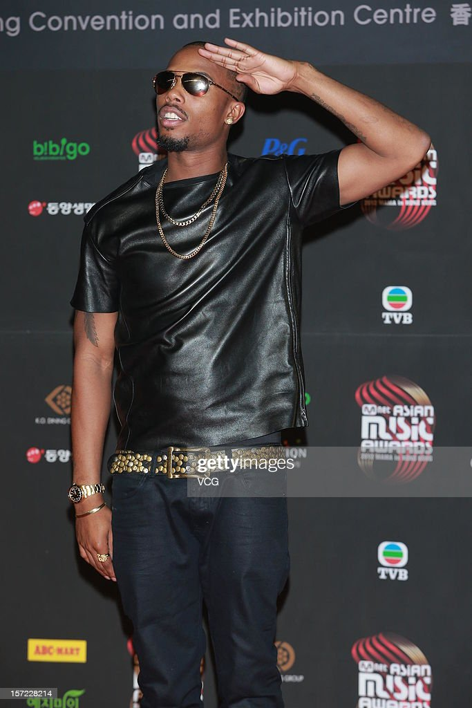 American singer-songwriter B.o.B arrives at the red carpet of the 2012 Mnet Asian Music Awards at Hong Kong Convention & Exhibition Center on November 30, 2012 in Hong Kong, China.