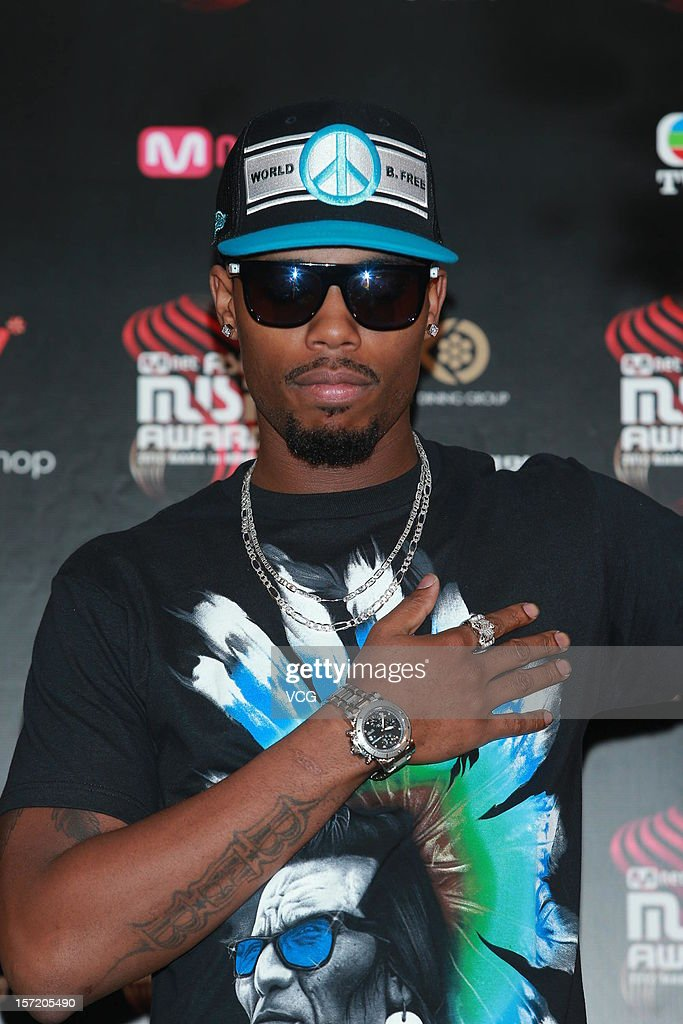 American singer-songwriter B.o.B attends a press conference of the 2012 Mnet Asian Music Awards on November 30, 2012 in Hong Kong, Hong Kong.