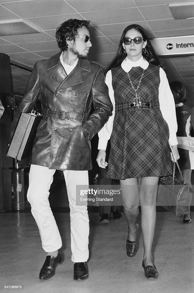 American singersongwriter Bob Dylan with his wife Sara Lownds at Heathrow Airport London 2nd September 1969 The couple are returning to the US...