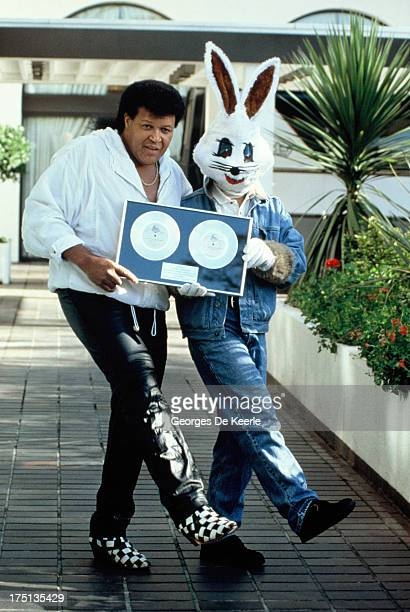 American singersongwriter Chubby Checker with Jive Bunny on October 25 1989 in London England Jive Bunny The Mastermixers had produced a version of...