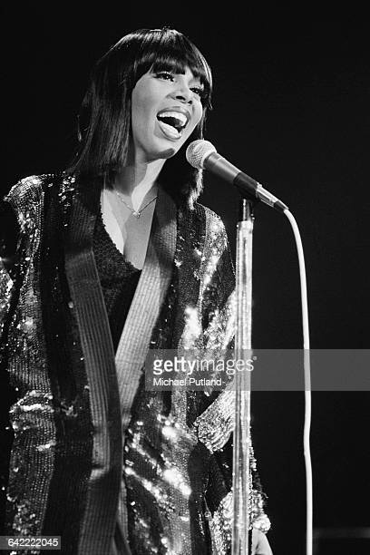 American singersongwriter Donna Summer performing on stage November 1978