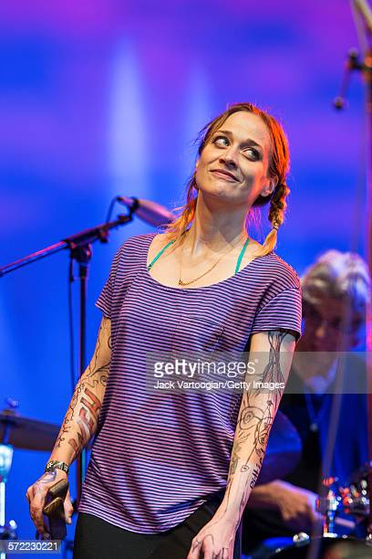 American singersongwriter Fiona Apple performs with the Watkins Family Hour Band during a performance in celebration of the 50th anniversary of Bob...