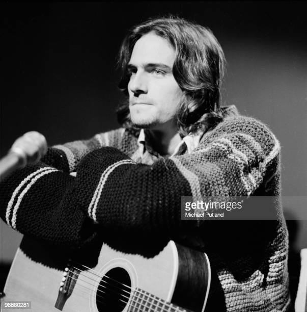 American singersongwriter James Taylor at a BBC TV studio London 20th October 1970
